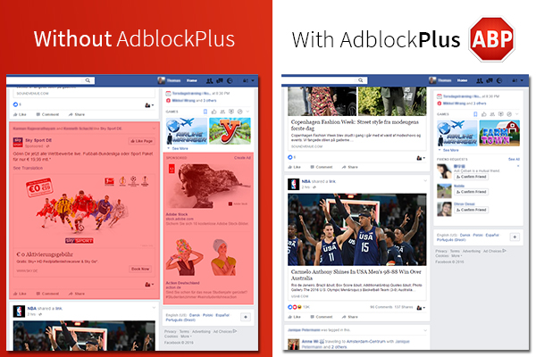 AdBlock Plus Defeats Facebook's Unblockable Ads - The Start of a Cat-and-Mouse Game