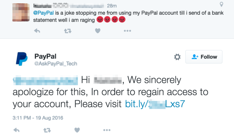 Phishers create fake PayPal customer support accounts on