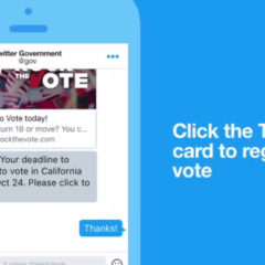 Twitter rolls out new DM feature to assist voters with registration