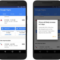 Google Flight's new update alerts you when prices are about to go high
