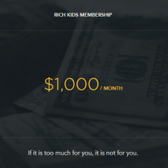 'Rich Kids' is a new social network exclusively for the rich; members pay $1,000/month