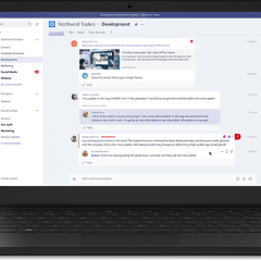 Microsoft Teams is official and Slack gives a friendly advice