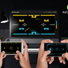 Turn your mobile device into a controller and your computer to a gaming console.