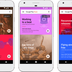 Google Play Music gets a new look