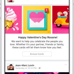 Facebook rolls out Happy Valentine's Day virtual cards