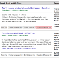 "Google has started flagging off ""Upsetting-Offensive"" content in search results"