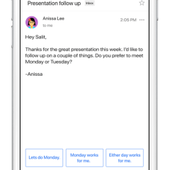 Google updates Gmail for Android with Smart Reply