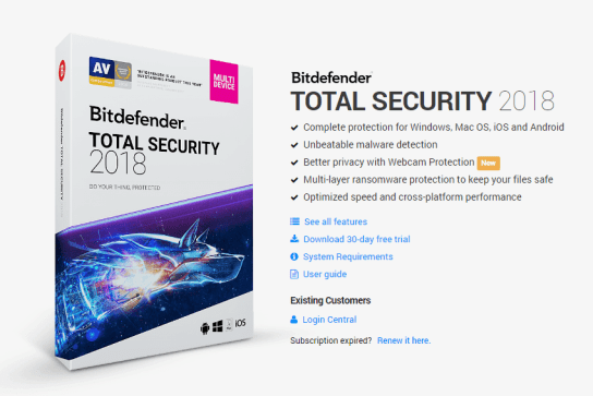 Review - Bitdefender Total Security 2018