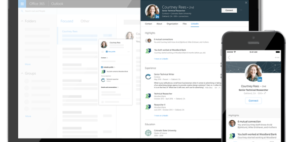 LinkedIn profile to be integrated into Microsoft apps