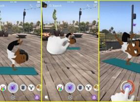 Snapchat brings Animated Bitmoji to World Lenses