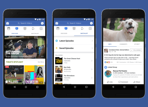 """Facebook is reportedly bringing its streaming service """"Watch"""" to India next year"""