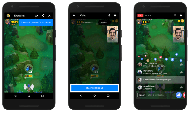 facebook live streaming instant games on messenger
