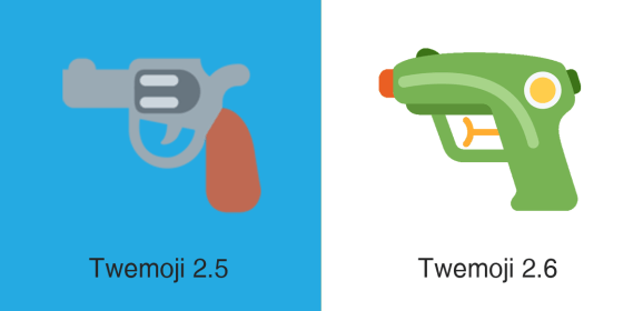 Twitter's new water gun emoji replaces its gun emoji