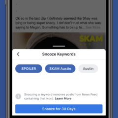 Facebook users could soon be able to snooze topics in Feeds