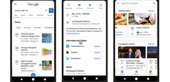 Google Search updated with tools to recommend interest-based events