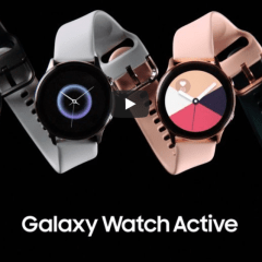 Galaxy Watch Active is Samsung's latest smartwatch that features blood pressure tracking