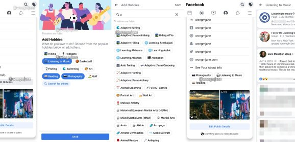 Facebook is working on Hobbies—a new feature in your profile