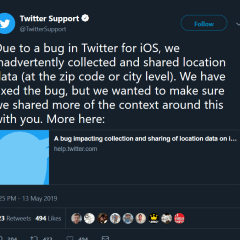 Twitter inadvertently collected and shared users' location data on iOS