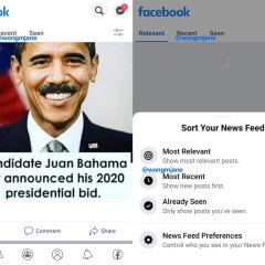 Facebook is working on tabbed newsfeed