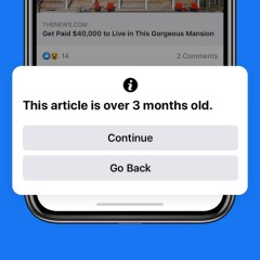 Facebook rolls out notification screen to warn users when they are about sharing old articles