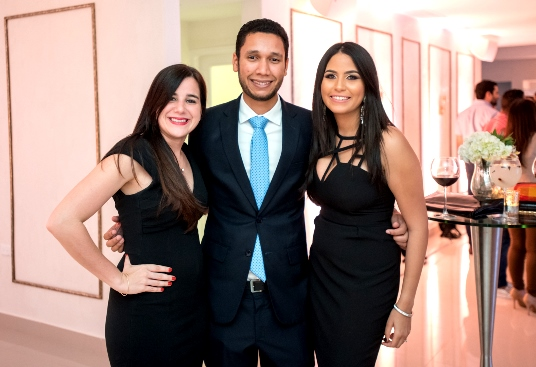 Carmen Ortega, Pablo Puello e Isanabel Cordero.
