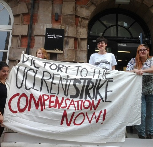 UCL students on rent strike