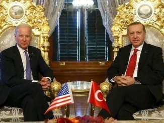 Turkish President Erdogan meets with U.S. Vice President Biden in Istanbul