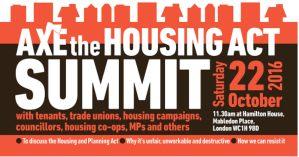 Axe the Housing Act summit @ Hamilton House | London | England | United Kingdom