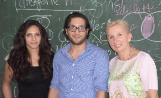 Burcu Cenik, Yasan Budak, Prof. Sonja Salmen (v.l.n.r.)