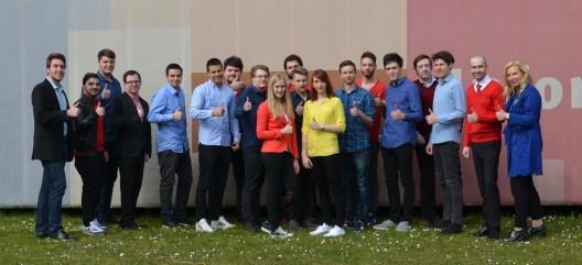 Das neue Team des Social Media Balloon