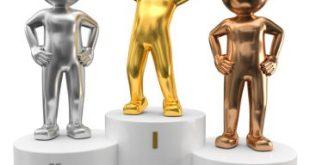 3d Männchen gold silber bronze