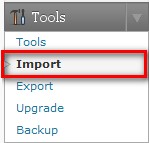 Under Tools, click on Import