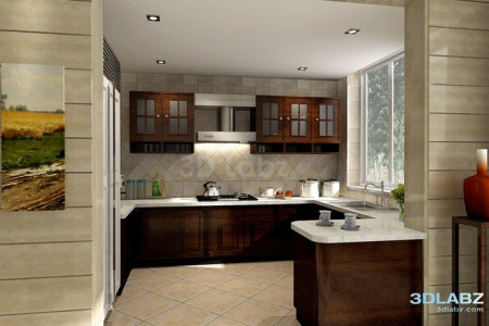 open kitchen 3d interior big
