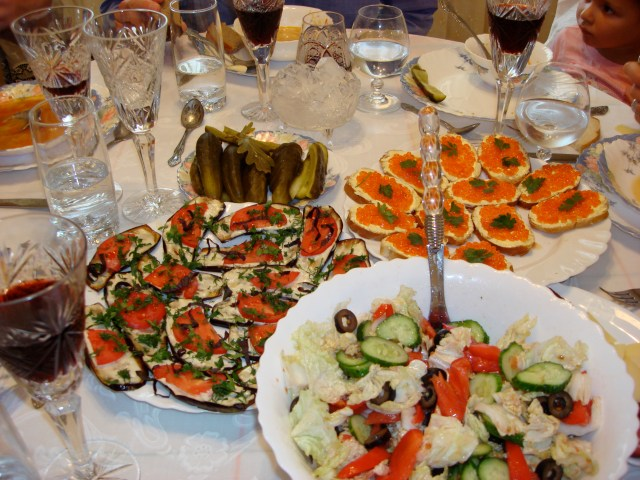 Traditional Russian New Year cuisine