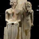 Museo Egizio. La Galleria dei Re. Statua di Amon, regno di Tutankhamon, 1333-1323 a.C: