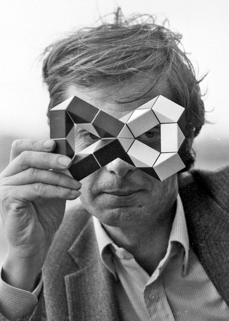 Erno Rubik, inventore del cubo magico, Roma, 09/11/1982