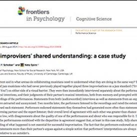 Michael Schober et al. (2014) – Jazz improvisers' shared understanding: A case study