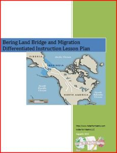 Bering Land Bridge Lesson Plan