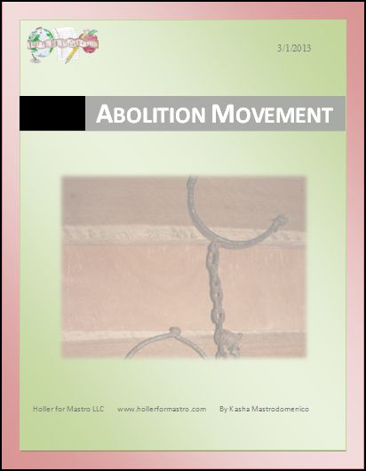 Abolition Movement Differentiated Instruction Lesson Plan
