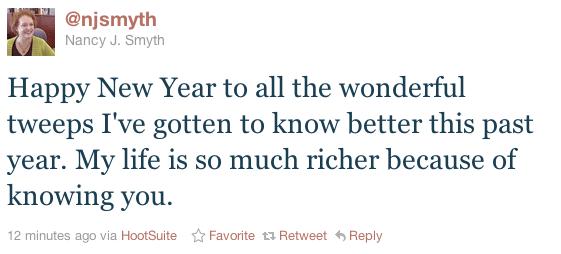 A tweet by @njsmyth