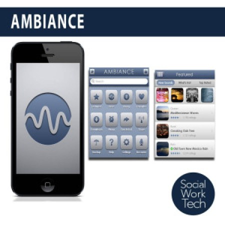 Screenshots of the Ambiance App