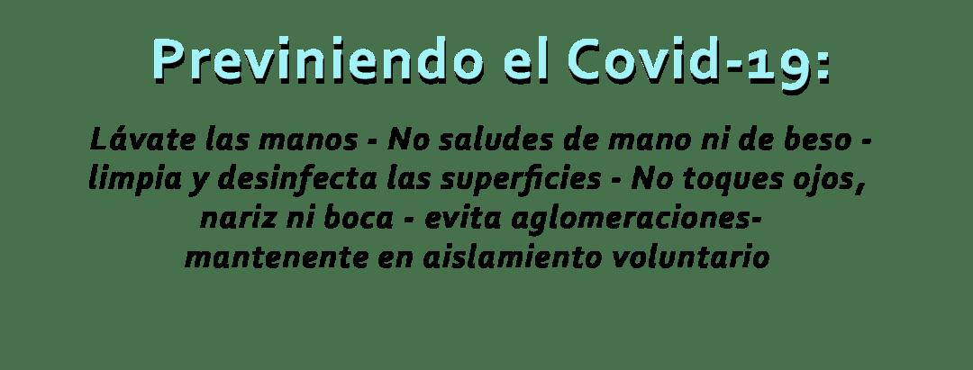 Consejos para prevenir el Covid-19