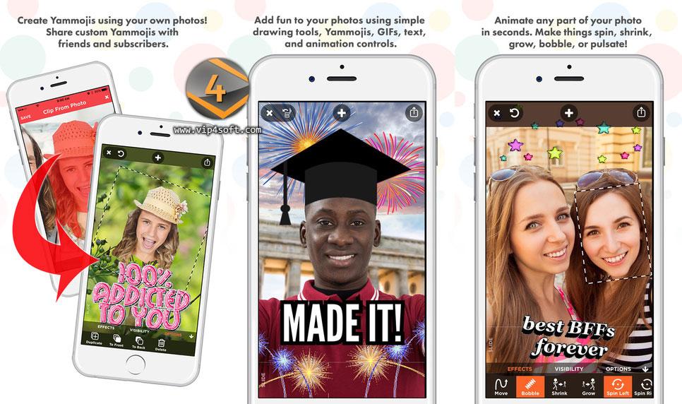 تطبيق Yammo لإضافة مؤثرات ممتعة على صورك لهاتف آيفون والآيباد