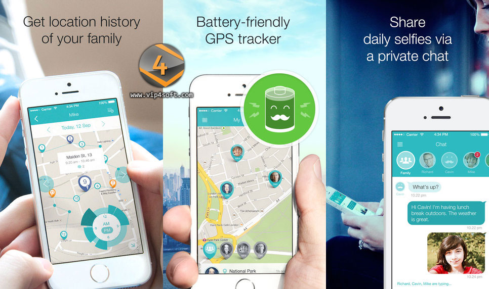 GeoZilla تطبيق تحديد مكان الأسرة والأصدقاء لهاتف آيفون و الايباد