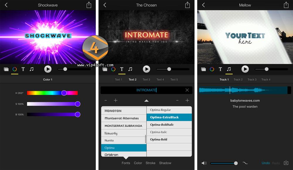 تطبيق IntroMate لإنشاء مقدمة فيديو احترافية على أجهزة آيفون