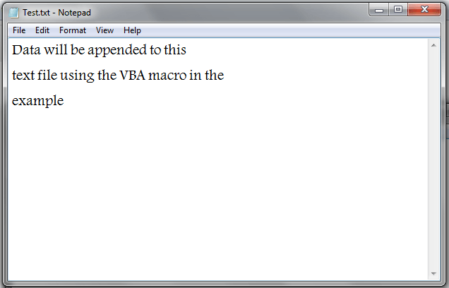 Vba Append Data To Text File Vba And Vb Net Tutorials