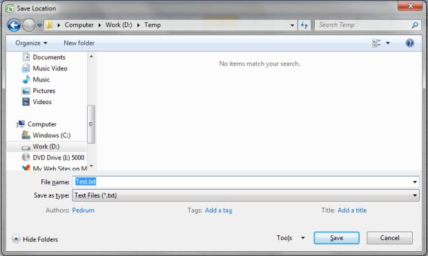 Write a text file c