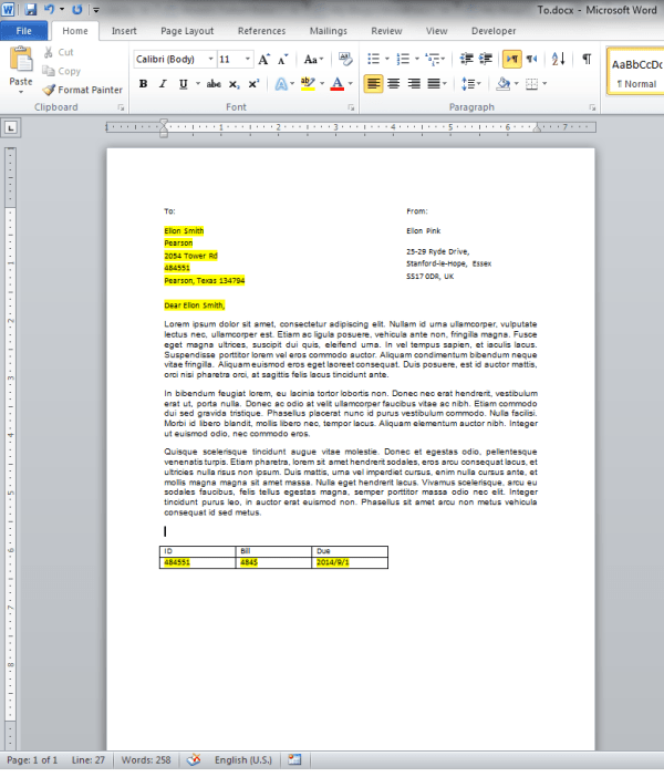how to create a mail merge in excel