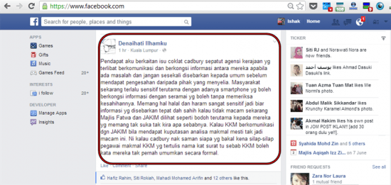 Status FB Denaihati