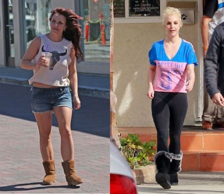 Britney Spears shopping at Planet Blue in Malibu